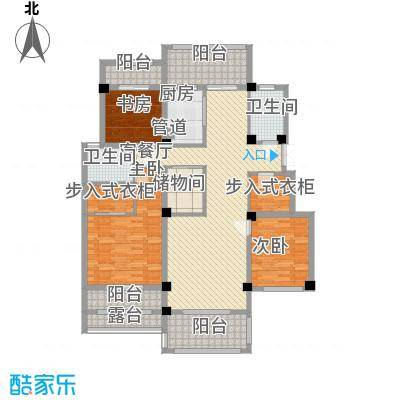 翠颐恬园133.79㎡翠颐恬园户型图洋房A23室2厅2卫户型3室2厅2卫