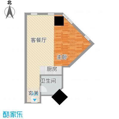 万菱君临国际公寓67.85㎡万菱君临国际公寓户型图05单元1室1厅1卫1厨户型1室1厅1卫1厨