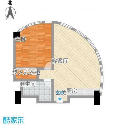 万菱君临国际公寓85.14㎡万菱君临国际公寓户型图13单元1室2厅1卫1厨户型1室2厅1卫1厨