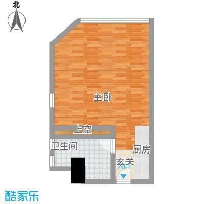 万菱君临国际公寓59.01㎡万菱君临国际公寓户型图14单元1室1厅1卫1厨户型1室1厅1卫1厨