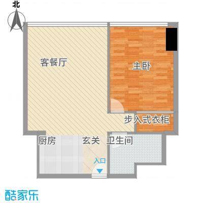 万菱君临国际公寓89.70㎡万菱君临国际公寓户型图16单元1室2厅1卫1厨户型1室2厅1卫1厨