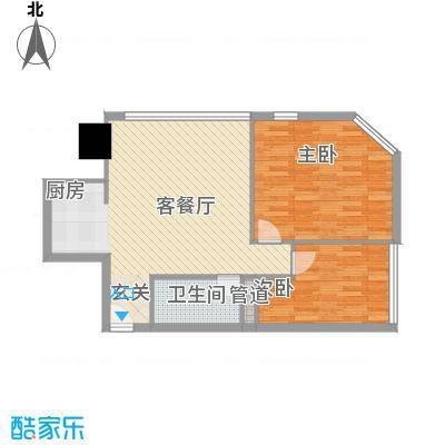 万菱君临国际公寓91.78㎡万菱君临国际公寓户型图02单元2室2厅1卫1厨户型2室2厅1卫1厨
