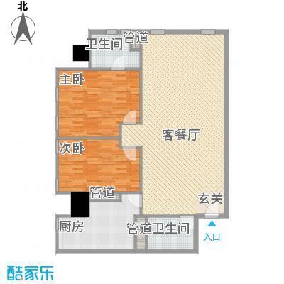 万菱君临国际公寓138.75㎡万菱君临国际公寓户型图03单元2室2厅2卫1厨户型2室2厅2卫1厨