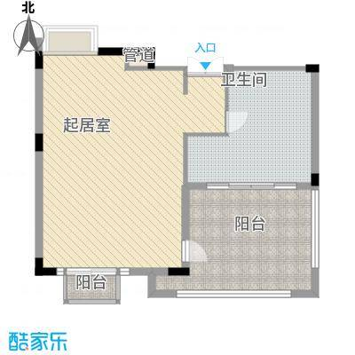 富力唐宁公馆户型图公爵三层 1室1卫