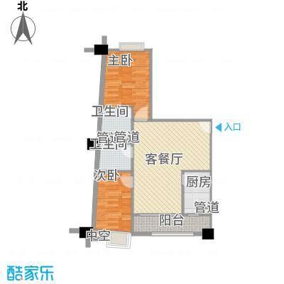 荔景华庭80.86㎡C栋03户型2室2厅2卫1厨