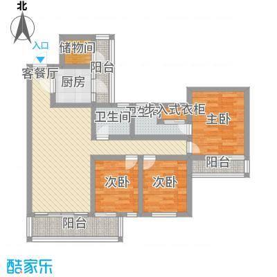 黄金广场113.00㎡黄金广场4室户型4室