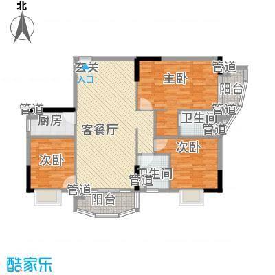 富邦名寓133.67㎡富邦名寓三室户型10室
