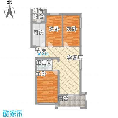 水荫路军区大院90.00㎡3室2厅户型3室2厅1卫1厨