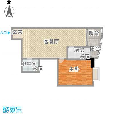 广信丽景大厦122.00㎡1室2厅户型1室2厅1卫1厨