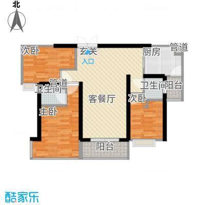 广发花园90.00㎡广发花园90.00㎡3室户型3室