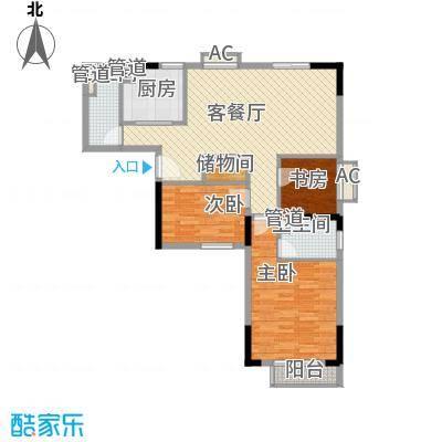 君华上域113.72㎡君华上域户型图113.72平米3房3室2厅2卫1厨户型3室2厅2卫1厨