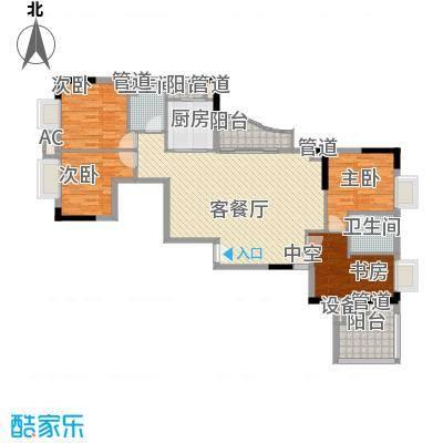 君华上域150.58㎡150.58平米4房户型4室2厅2卫1厨