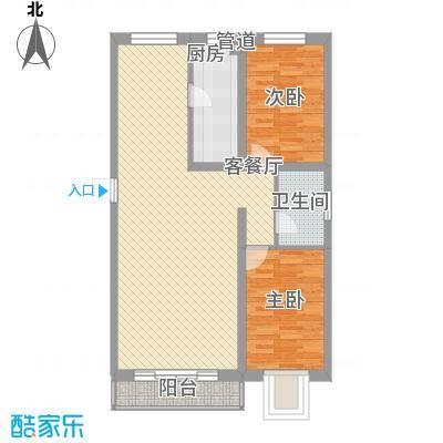 新华名座100.44㎡新华名座户型图一期5号楼四层I户型2室2厅1卫户型2室2厅1卫