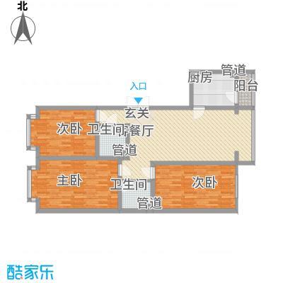 金华学府金华学府户型图26#一单元1-2层东户户型10室