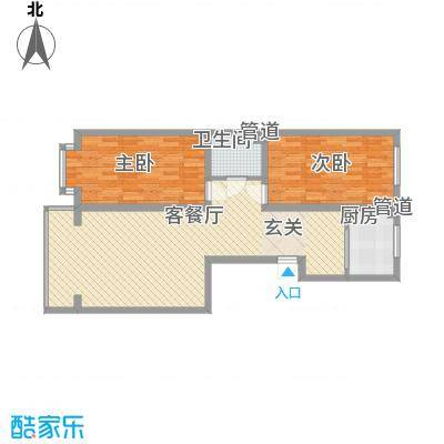 金华学府金华学府户型图21#三单元东西户2室1厅1卫1厨户型2室1厅1卫1厨
