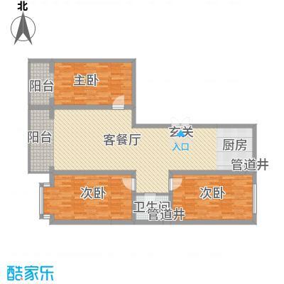 金华学府金华学府户型图26#二单元东户户型10室