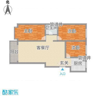 金华学府金华学府户型图26#二单元西户3室1厅1卫1厨户型3室1厅1卫1厨