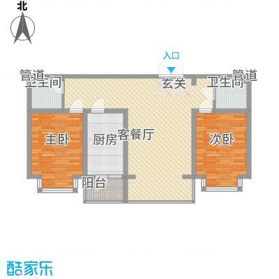 金华学府金华学府户型图21#一单元3-11层中户2室1厅1卫1厨户型2室1厅1卫1厨