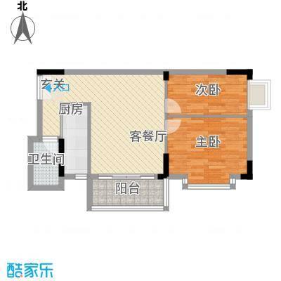 德意居72.03㎡德意居户型图B栋801单位2室2厅1卫1厨户型2室2厅1卫1厨