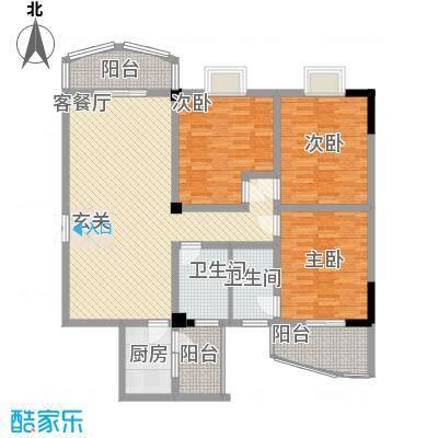 东山华庭150.00㎡东山华庭户型图3室2厅户型图3室2厅2卫1厨户型3室2厅2卫1厨