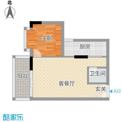 德意居57.99㎡德意居户型图A栋1104单位1室2厅1卫1厨户型1室2厅1卫1厨
