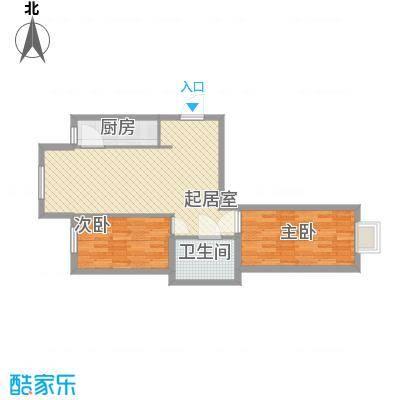 水语青城87.00㎡水语青城户型图B户型2室2厅1卫1厨户型2室2厅1卫1厨
