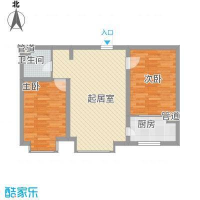 水语青城78.45㎡水语青城户型图H户型2室1厅1卫1厨户型2室1厅1卫1厨