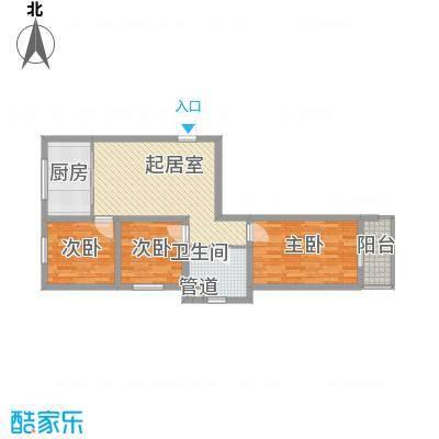 水语青城91.11㎡水语青城户型图G1户型3室1厅1卫1厨户型3室1厅1卫1厨
