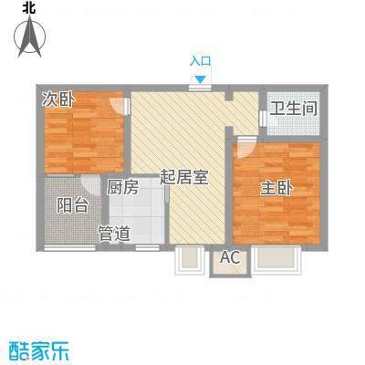 水语青城70.04㎡水语青城户型图K户型2室1厅1卫1厨户型2室1厅1卫1厨