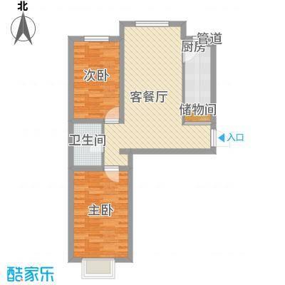 碧水蓝山83.50㎡碧水蓝山户型图B户型2室2厅1卫1厨户型2室2厅1卫1厨