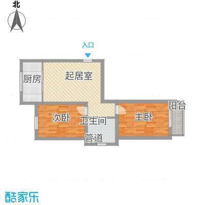 水语青城82.84㎡水语青城户型图G户型2室1厅1卫1厨户型2室1厅1卫1厨