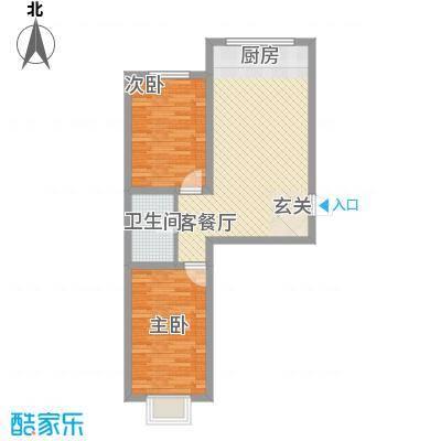 蓝山国际72.20㎡蓝山国际户型图G户型2室1厅1卫1厨户型2室1厅1卫1厨