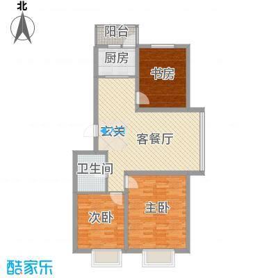 蓝山国际103.30㎡蓝山国际户型图D户型3室2厅1卫1厨户型3室2厅1卫1厨