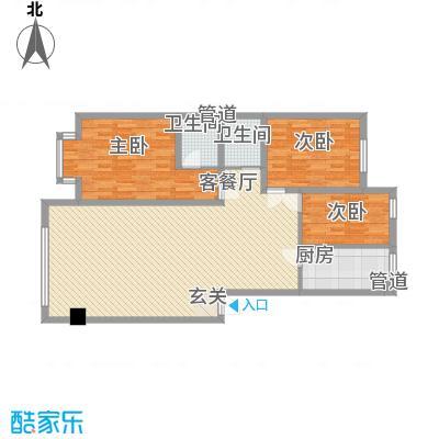 卓然京都119.00㎡卓然京都户型图B户型3室2厅2卫1厨户型3室2厅2卫1厨