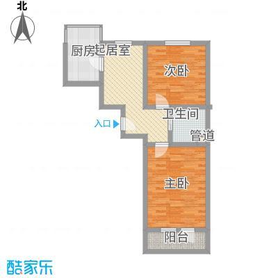 上院60.30㎡上院户型图2室2厅1卫1厨户型10室