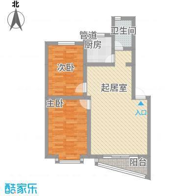 上院80.80㎡上院户型图2室2厅1卫1厨户型10室