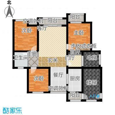 东方维也纳户型图C户型 3室2厅1卫1厨