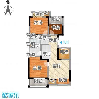荣盛楠湖郦舍户型图新户型-93.29 3室2厅1卫1厨