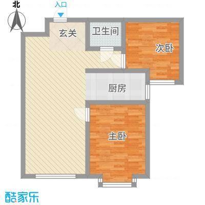 雅格花园户型图B4 2室2厅