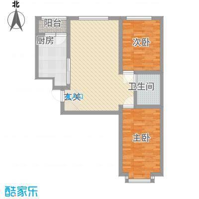 雅格花园户型图A1 2室2厅1卫1厨