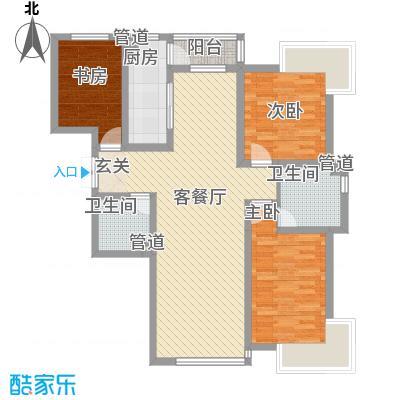 爵士悦123.00㎡爵士悦户型图户型图3室2厅2卫1厨户型3室2厅2卫1厨
