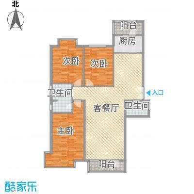 兴泰东河湾163.92㎡兴泰东河湾户型图G4-a户型3室2厅2卫1厨户型3室2厅2卫1厨