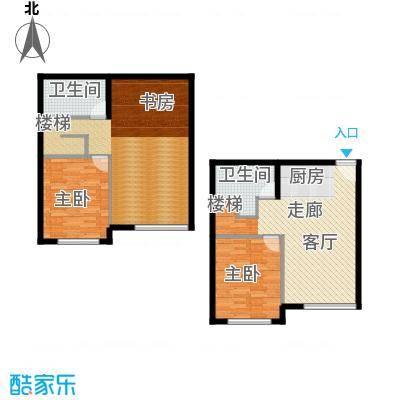 海西名筑107.00㎡海西名筑户型图C户型3室1厅2卫1厨户型3室1厅2卫1厨
