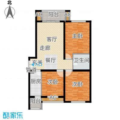 海西名筑122.00㎡海西名筑户型图E户型3室1厅1卫1厨户型3室1厅1卫1厨