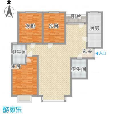 亿峰岛璞园166.00㎡亿峰岛璞园户型图D户型3室2厅2卫1厨户型3室2厅2卫1厨