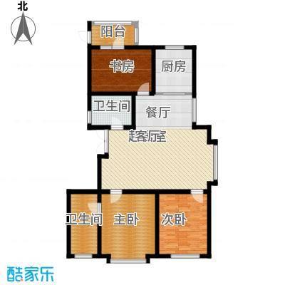 爱巢809091.00㎡爱巢8090户型图B2户型3室2厅2卫1厨户型3室2厅2卫1厨