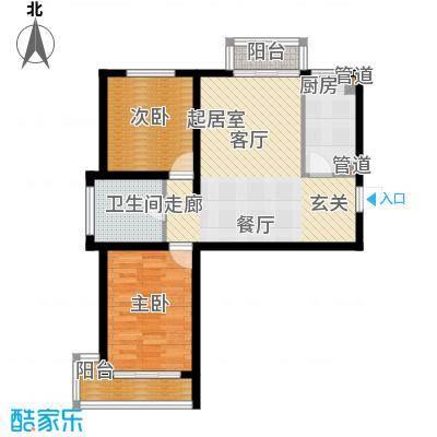 爱巢809091.00㎡爱巢8090户型图9#D-12室2厅1卫1厨户型2室2厅1卫1厨