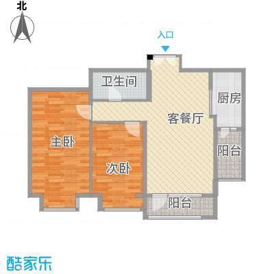 兴泰东河湾95.60㎡兴泰东河湾户型图G4-b户型2室2厅1卫1厨户型2室2厅1卫1厨