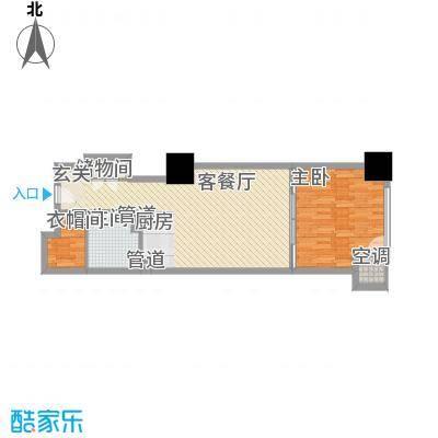 海亮广场一期82.78㎡海亮广场一期户型图E栋12户型1室1厅1卫户型1室1厅1卫