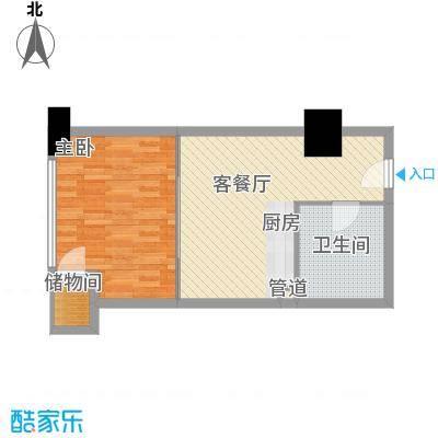 海亮广场一期62.32㎡海亮广场一期户型图E栋23户型1室1厅1卫1厨户型1室1厅1卫1厨